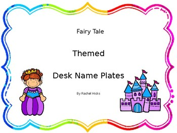 Fairy Tale desk and tub name plates