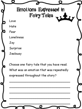 Writing and Reading Fairy Tales