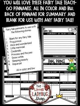Fairy Tale Activity Posters • Teach- Go Pennants™