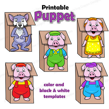 Fairy Tales Craft Activity   Printable Paper Bag Puppets
