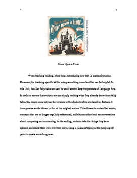 Fairy Tales - A Reading Unit