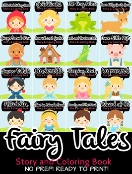 Big Bundle 17 in 1 Fairy Story and Coloring Book over 500 pages