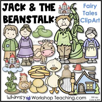 Fairy Tales Clip Art Bundle 1 - Goldilocks, Red Riding Hood, Jack