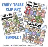Fairy Tales ClipArt Mini-Bundle 1 Goldilocks, Little Red, Jack Beanstalk, Hansel