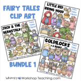 Fairy Tales Clip Art Bundle 1 - Goldilocks, Red Riding Hood, Jack