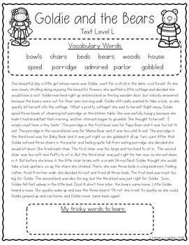 Fairy Tales: CCSS Aligned Leveled Passage and Activities Levels J - M