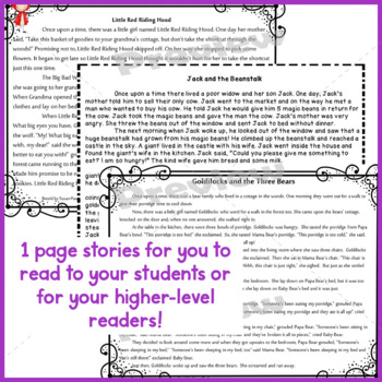 Cause & Effect and Scrambled Sentences, 1st-3rd Grades, Fairy Tales