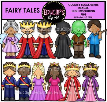 Fairy Tales Clip Art Bundle {Educlips Clipart}