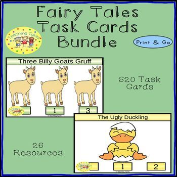 Fairy Tales Clip Cards Bundle