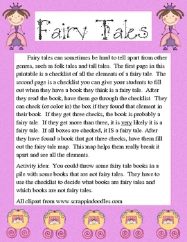 Fairy Tale Elements Worksheets & Teaching Resources | TpT