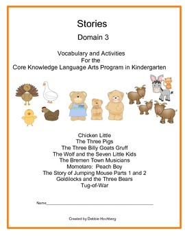 Fairy Tales-- Engage NY-- Common Core-- Kindergarten-- Domain 3 ( Stories)