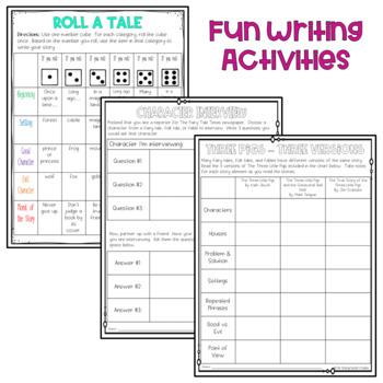 Fairy Tales, Folktales, and Fables Common Core Aligned Unit (RL.3.2 and More!)