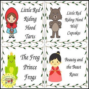 Fairy Tales Food Label Cards