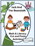 Fairy Tales Jack and the Beanstalk Math Literacy Cut Paste Activities P-K, K,