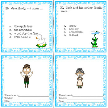 Jack & the Beanstalk Literacy English Language Arts Literacy Station