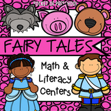 Fairy Tales Math and Literacy Centers for Preschool, Pre-K, and Kindergarten