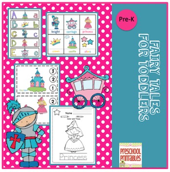 Fairy Tales Printable for Toddlers
