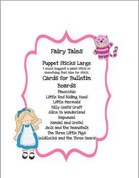Fairy Tales Puppet Sticks