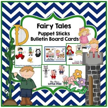 Fairy Tales Puppet Sticks & Bulletin Board Cards