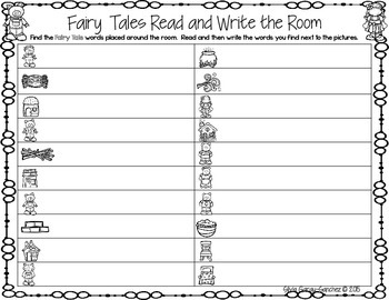Fairy Tales Read and Write the Room Center
