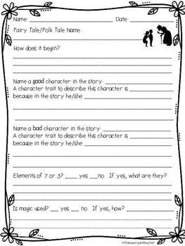 Fairy Tales Reader's Response