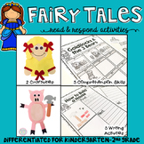 Fairy Tales: Reading Comprehension, Writing and Craftivities