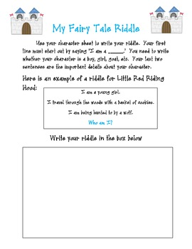 Fairy Tales: Riddles, Writing, and More!