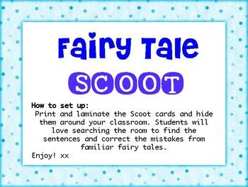 Fairy Tales Scoot! - Sentence Editing