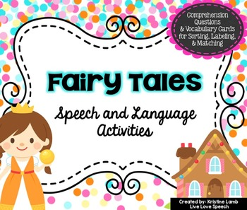 Fairy Tales Speech and Language Activities
