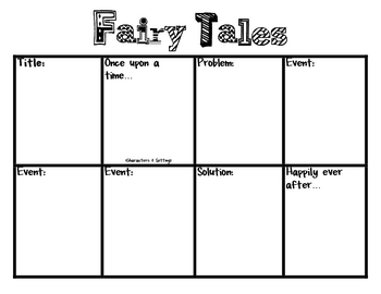 fairy tales story board common core writing w 2 3 by raquel fabian. Black Bedroom Furniture Sets. Home Design Ideas