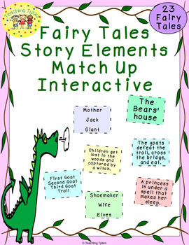 fairy tales story elements matching interactive by teaching tykes. Black Bedroom Furniture Sets. Home Design Ideas