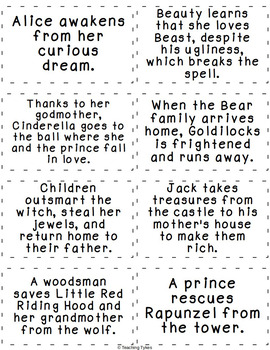 Fairy Tales Story Elements Matching Interactive