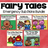 Fairy Tale Kindergarten Emergency Sub Plans Bundle