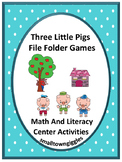 The Three Little Pigs  Math and Literacy File Folder Games Special Ed