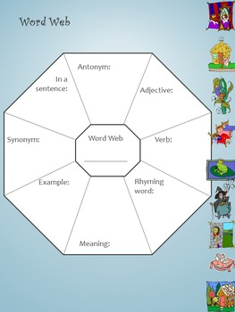 Fairy Tales Vocabulary and Spelling Unit- 10 lessons, activities and word lists