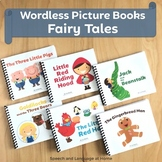 Wordless Book Printables | Fairy Tales Speech Therapy Activities Bundle