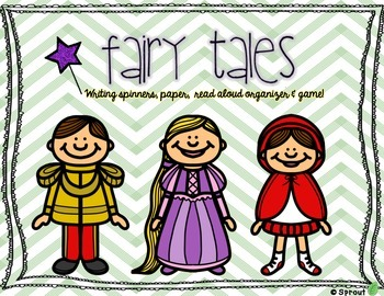 Fairy Tales! Writing Pages, Spinners, Read Aloud Organizer & Game!