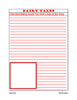 Fairy Tales Writing Practice