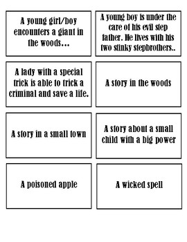Fairy Tales Writing Task Cards