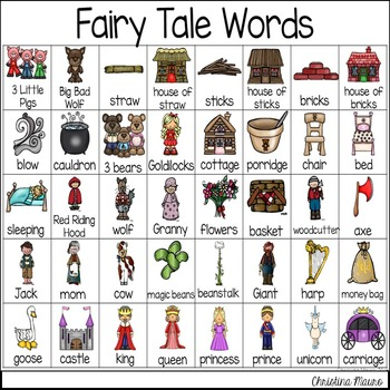 Fairy Tales - Writing Words