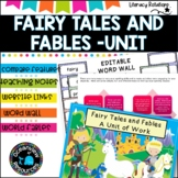 Fairy Tales and Fables Unit- K-2