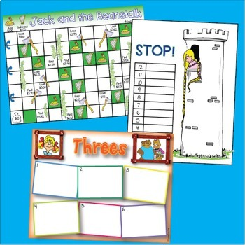 Fairy Tale Games for Literacy and Math Centers