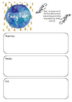Fairy Tales printable template