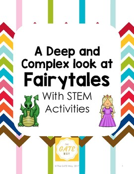 Fairy Tales with Depth and Complexity and STEM BUNDLE
