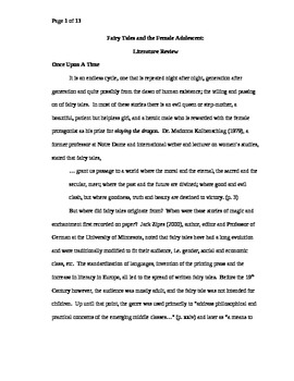 literature review papers psychology