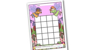 Fairy Themed Sticker/Stamp Reward Chart
