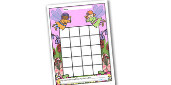 Fairy Themed Sticker/Stamp Reward Chart