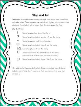 Fairy Themed Stop & Jot Flaps