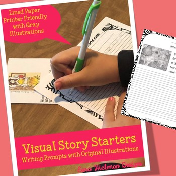 Fairy Writing Prompt Worksheets with Pictures (lined paper)