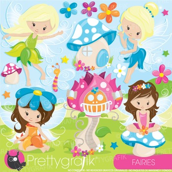 Fairy clipart commercial use, vector graphics, digital, fairies, faeries- CL943